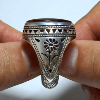 انگشتر فاخر جزع یمانی f469.2