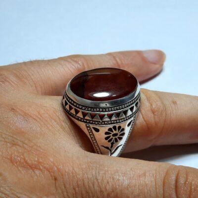 انگشتر فاخر جزع یمانی f469.6