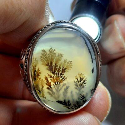 انگشتر مردانه عقیق شجر 175.2