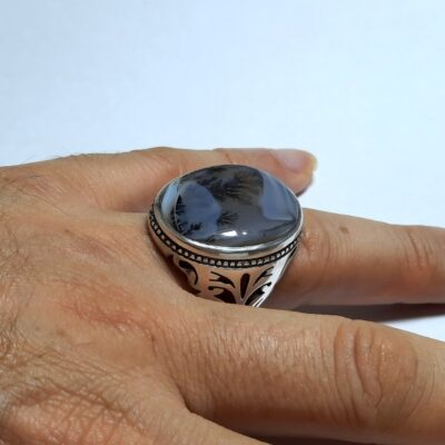 انگشتر مردانه عقیق شجر 175.4