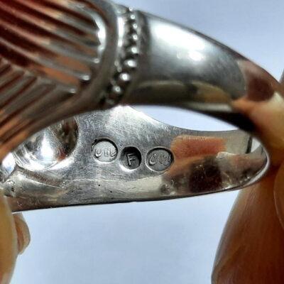 انگشتر عقیق طوقدار یمن f473.5