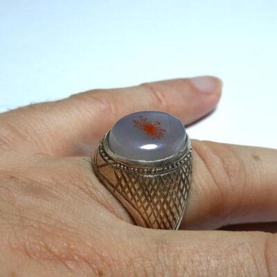 انگشتر عقیق شجر سرخ مردانه 216.3