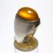 انگشتر فدیوم عقیق زرد f478