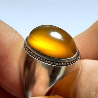 انگشتر فدیوم عقیق زرد f478.1