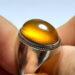 عکس ریز انگشتر فدیوم عقیق زرد f478.3