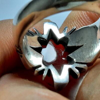 انگشتر مردانه عقیق تراش ثبتی یمنی a455.2