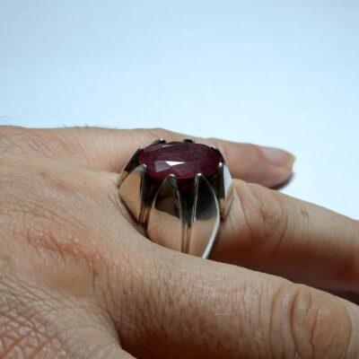 انگشتر مردانه یاقوت سرخ 325.4