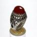 انگشتر جزع تراش قطعی سرخ یمانی اصل f480