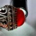 عکس ریز انگشتر جزع تراش قطعی سرخ یمانی اصل f480.5