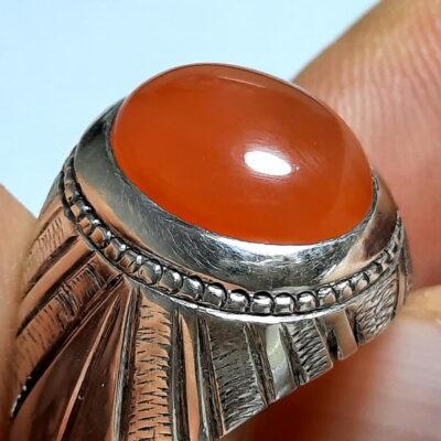 انگشتر مردانه عقیق یمنی a460.1