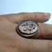 عکس ریز انگشتر نقره عقیق خطی 7101.5