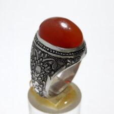 انگشتر قلمزنی عقیق یمنی a462