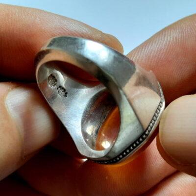 انگشتر مردانه عقیق خطی f486.2