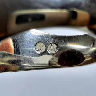 انگشتر مردانه جزع سرخ تیره یمانی f487.3