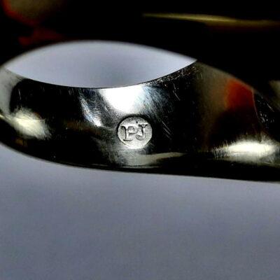 انگشتر مردانه جزع سرخ تیره یمانی f487.4