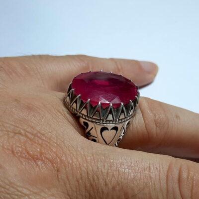 انگشتر مردانه یاقوت سرخ 272.6