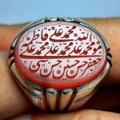 انگشتر عقیق یمن خطی 7117.1