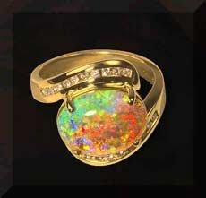 انگشتر طلای اوپال