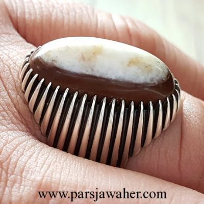 2 layer brown agate stone 207