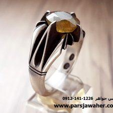 انگشتر یاقوت زرد افریقایی تک چنگ 324