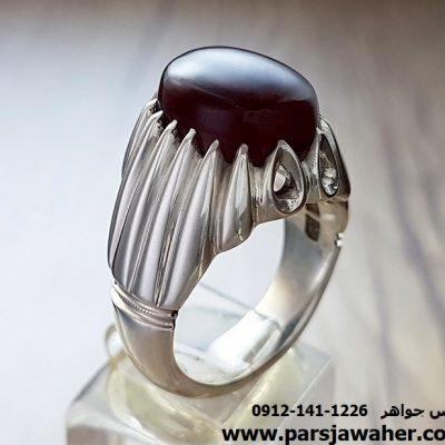 انگشتر جزع آنسی یمانی a129
