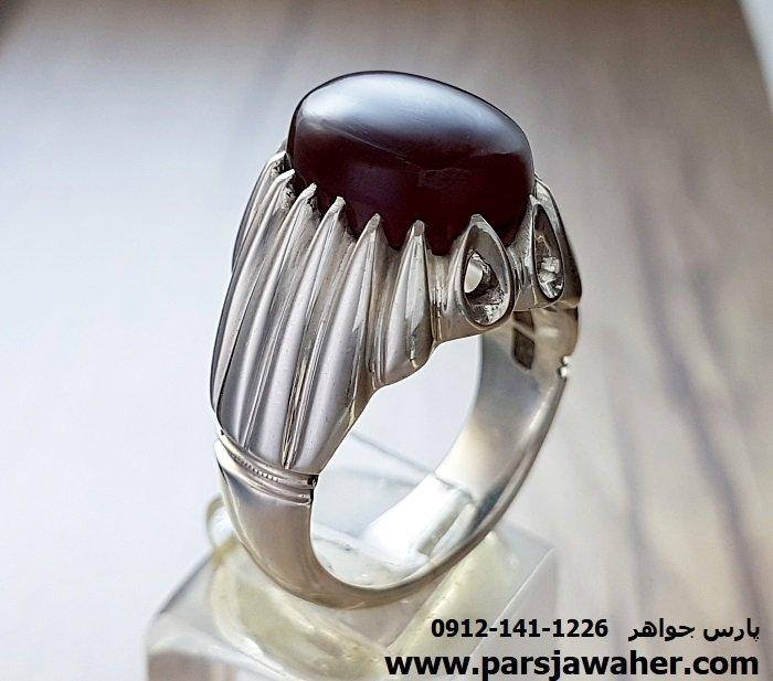 انگشتر جزع آنسی یمانی 170