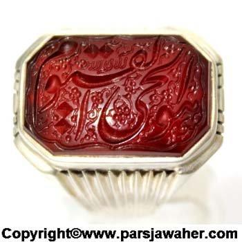 انگشتر مردانه نقره خط میرزا 2833