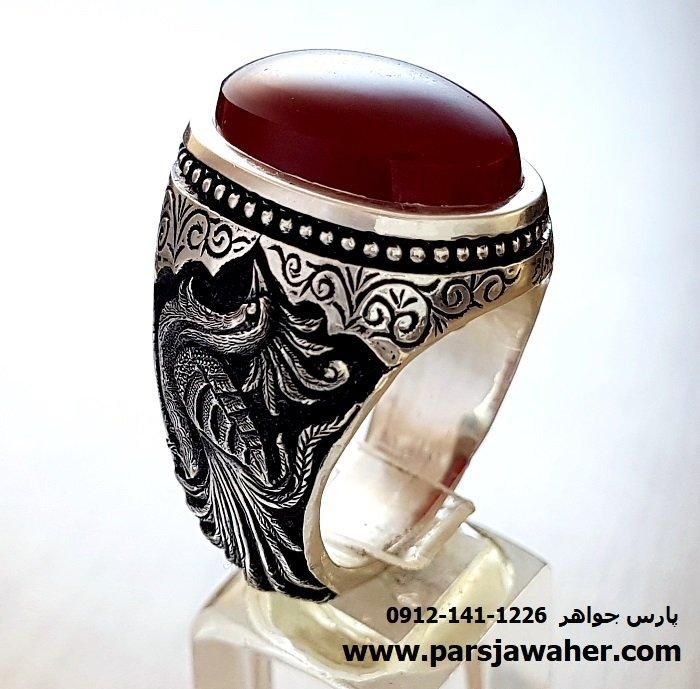 انگشتر قلم زنی سیمرغ جنگی 1079