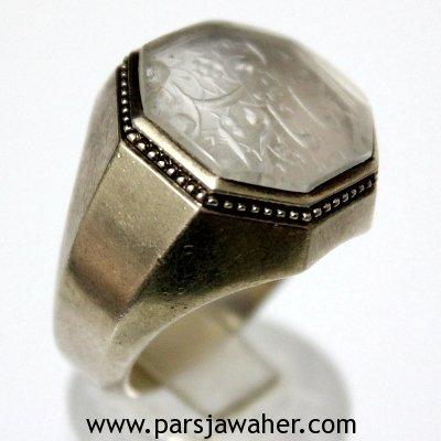 انگشتر مردانه نقره دست ساز در نجف جدی