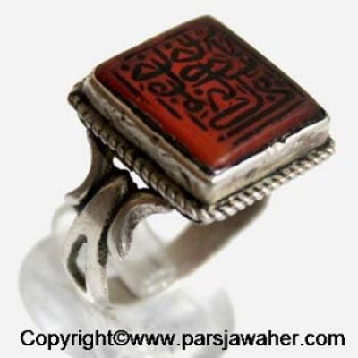 Ancient Aqeeq Silver Ring 2311
