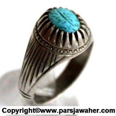 انگشتر فیروزه خطی 2325
