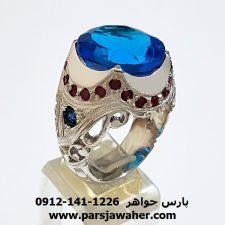 انگشتر مردانه فدیوم توپاز کد f164