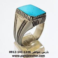 انگشتر مردانه فیروزه نیشابوری اصل کد 191