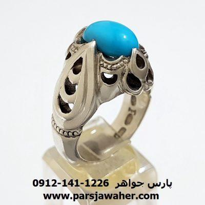 انگشتر مردانه فیروزه نیشابور کد f175