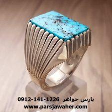 انگشتر مردانه نقره دست ساز فیروزه نیشابور 192
