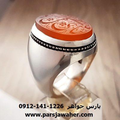 انگشتر عقیق یمنی دست ساز 8250
