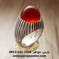 انگشتر فدیوم عقیق یمنی کلاهدار f183