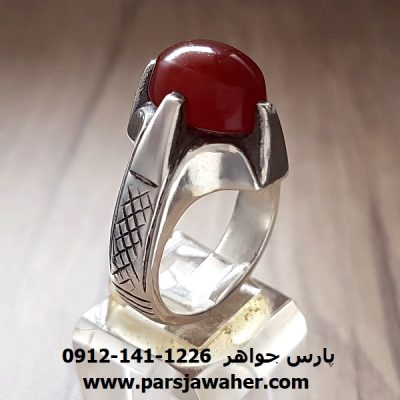 انگشتر نقره عقیق یمنی a174