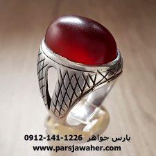 انگشتر نقره مردانه عقیق ممی تبریزی f191