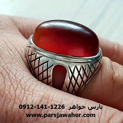 انگشتر نقره مردانه عقیق یمنی f191