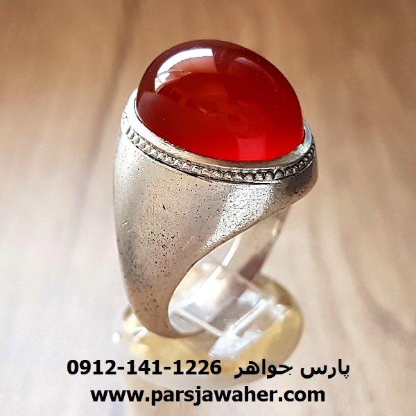 انگشتر قدیمی عقیق یمنی اصل a176