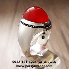عقیق یمنی انگشتر نقره دست ساز a203