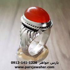 انگشتر قدیمی عقیق یمنی a204