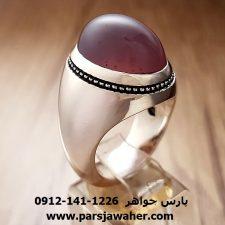 انگشتر عقیق سوسنی مردانه a205