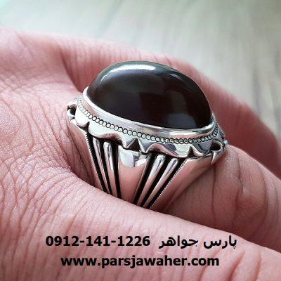 جزع یمانی انگشتر مردانه a207