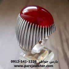 انگشتر رکاب دست ساز مردانه نقره عقیق یمن a210