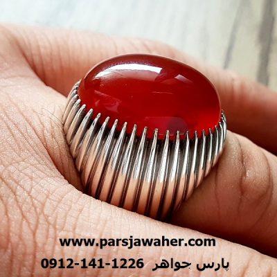 انگشتر عقیق یمن مردانه نقره a210