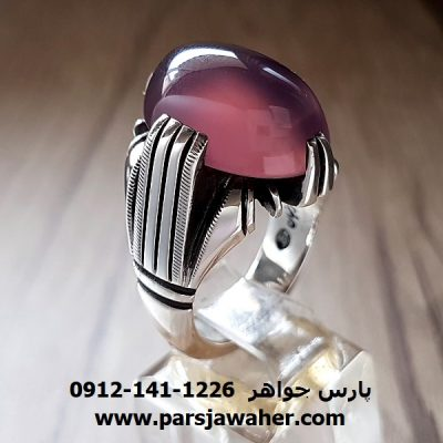 انگشتر نقره عقیق سوسنی یمنی a211