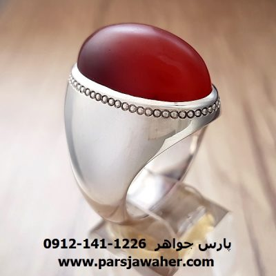 انگشتر عقیق تراش دار آنسی یمنی f203