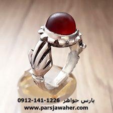 انگشتر قدیمی عقیق یمنی a214